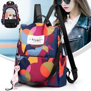 2df3e4f09 Womens Ladies Waterproof Anti-theft Nylon Backpack Travel Rucksack Shoulder  Bags