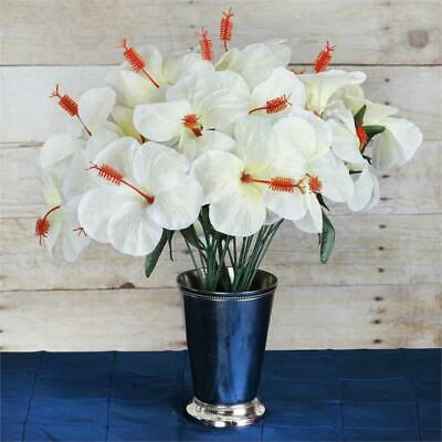 Hibiscus Wedding - 60 pcs Artificial HIBISCUS Flowers for Wedding Arrangements Decor - 12 bushes