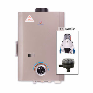 Eccotemp L7 Tankless Water Heater Bundle (12V pump & strainer)