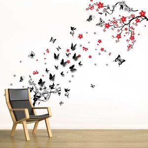 Wall stickers mural decal paper art decoration 3d for Adesivi parete 3d