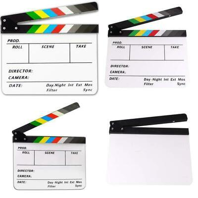 Acrylic Plastic Clapboard Dry Erase Director TV Film Movie Slate Cut Action Scen - Movie Director Clapboard