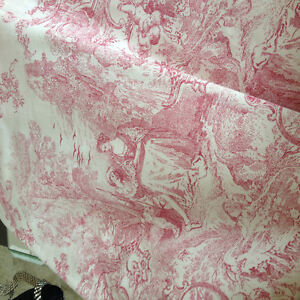 Toile lined drape 104 x 92 inches long