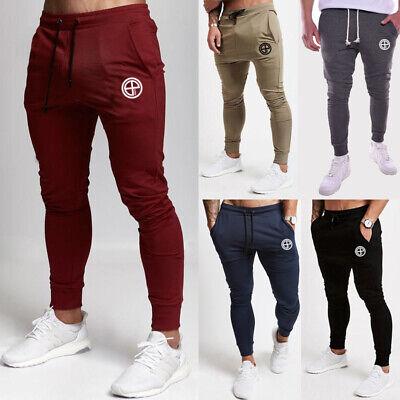 Männer Slim Fit Trainingsanzug Sport Gym Skinny Jogging Jogger Jogginghose Hose