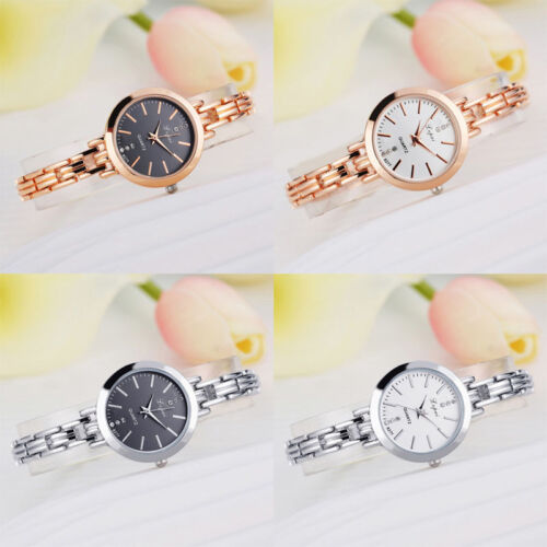 $2.58 - Luxury Women Lady Bracelet Stainless Steel Crystal Dial Quartz Wrist Watch Gift