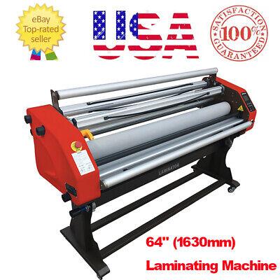Usa Stock Upgraded 64 Automatic Pneumatic Hot Cold Laminating Machine - 1850w