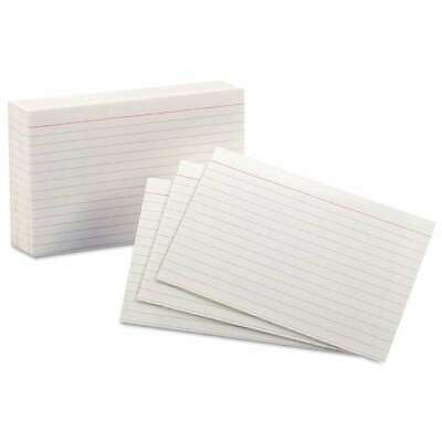 Oxford Ruled Index Cards 4 X 6 White 100pack 078787041042