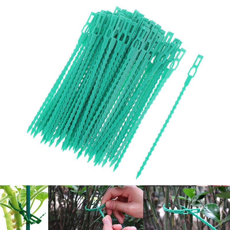 Reusable Garden Cable Ties Plant Support Shrubs Fastener Locking Adjustable Tie+