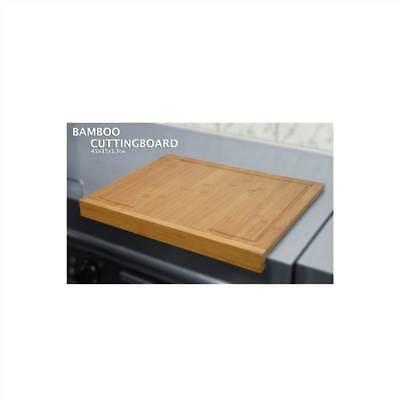 45cm Anti Slip Large Bamboo Wood Chopping Cutting Board with Counter Edge