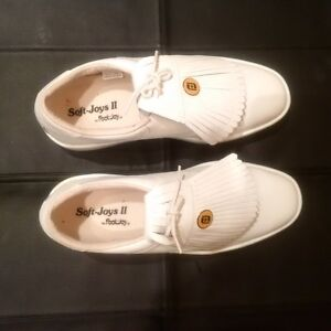 Foot-Joy White Leather Golf Shoes Men's Size 8 Brand New.