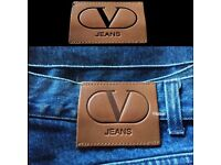 New Vintage Authentic Valentino Jeans Size 38 Blue or Black Denim