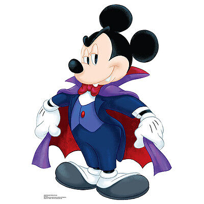 MICKEY MOUSE Dracula CARDBOARD CUTOUT Standee Standup Poster Halloween Vampire - Mickey Mouse Cardboard Cutout