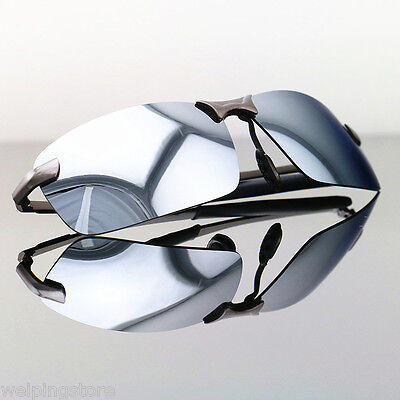 Men's Mirrored Lens Polarized Aviator Sunglasses Driving Glasses Sports Eyewear