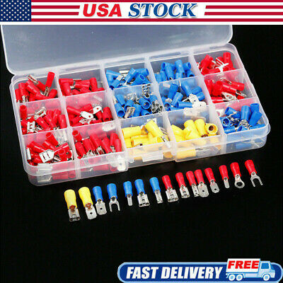 Lots Assortment Terminal Kit Electrical Wire Crimp Connectors Male Female Spade