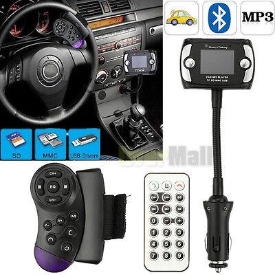 Wireless Bluetooth FM Transmitter MP3 Player USB SD LCD Remote Handsfree Car Kit