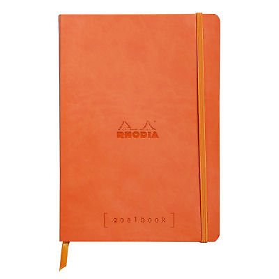 Rhodia Goalbook A5 Size Dot Grid Tangerine Orange Cover Goal Journal Book