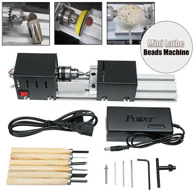 100w Mini Lathe Beads Polisher Machine For Wood Woodworking Diy Rotary Tool