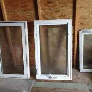 Vinyl windows inserts  3 of them  & oil fired water heater