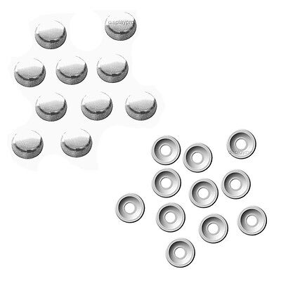 8 Chrome Fasteners Caps License Plate/Tag Frame Auto car truck screw Covers Chrome License Plate Screws