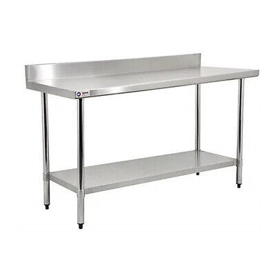 Nsf Stainless Steel Work Table 96x30x34 W 4 Inch Backsplash Free Shipping