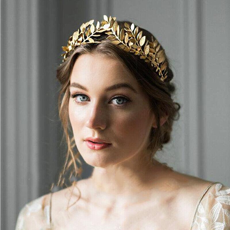 Women's Gold Headband Leave Crown Hairband Hair Accessories