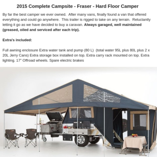 Camper Trailer - Complete Campsite - LOTS OF EXTRAS Jindalee Brisbane South West Preview