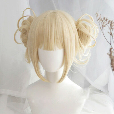 My Boku no Hero Academia Himiko Toga Light Blonde Ponytail Cosplay Wig US](Blonde Ponytail Wig)
