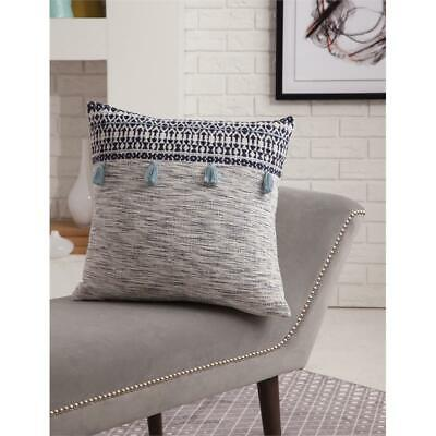 Abacasa Blake Orion Navy/White Throw Pillow