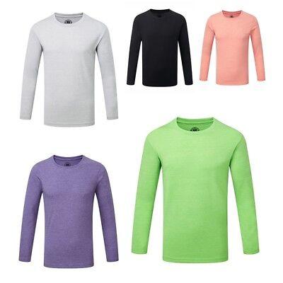 T-Shirt Kinder Russell Hd Für Mädchen Langarm Für Jungen
