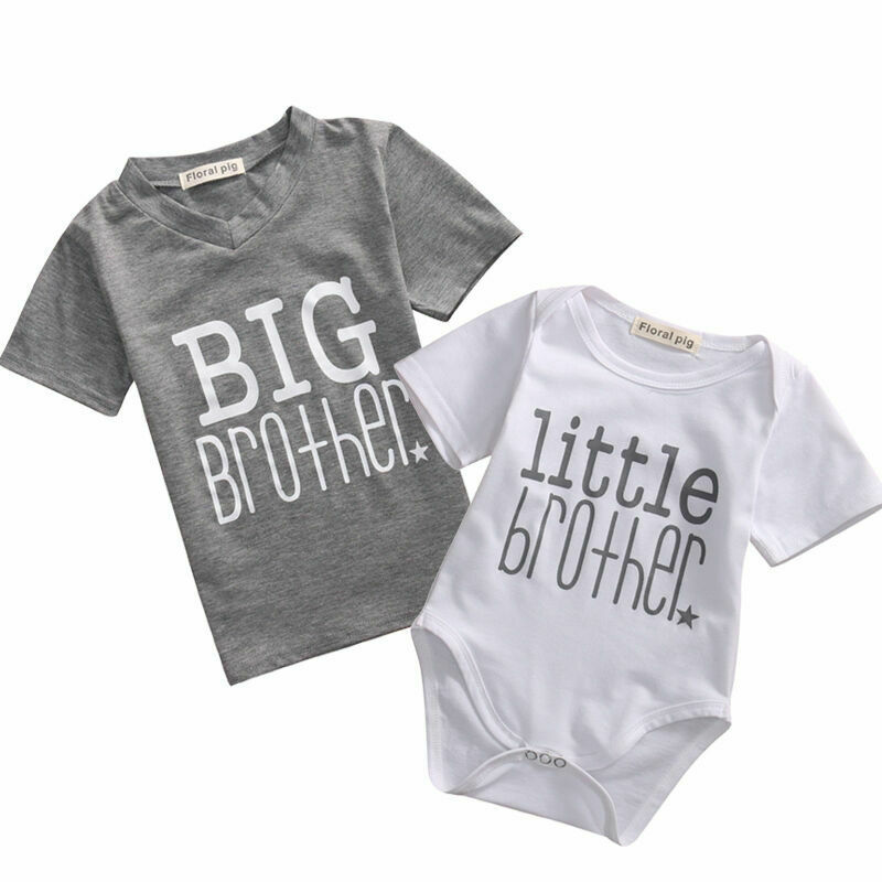 Big Brother T-shirt / Little Brother Boy Romper Matching Tops Clothes Outfits