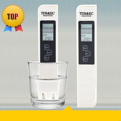 Digital Lcd Tds Ec Meter Water Test Purity Ppm Filter Hydroponic Pool Tester New