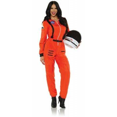 Female Astronaut Costume (Underwraps Female Astronaut NASA Orange Adult Womens Halloween Costume)