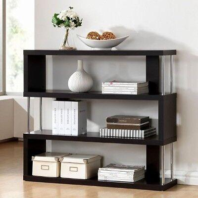 مكتبة كتب جديد Baxton Studio Barnes Dark Brown Three-Shelf Modern Bookcase FP-3D Bookcase NEW