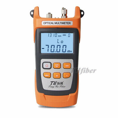 Fiber Optic Optical Power Meter Cable Tester 10mw Fiber Red Laser Vfl All-in-on.