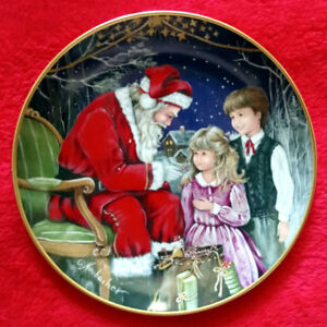 "Kaiser ""A Visit With Santa"" Collector Plate"
