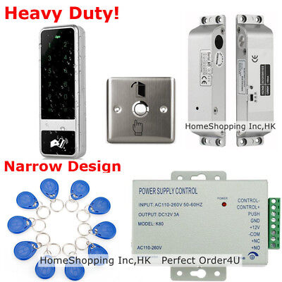 Waterproof RFID Card+Password Door Access Control System+Electric Drop Bolt Lock