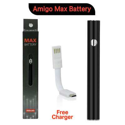 Original Amigo MAX Slim Vape Battery w/ Preheat Feature for Thick Oil 510 Thread
