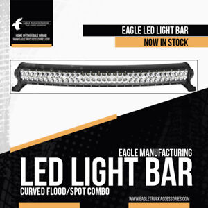 "20"" 30"" Dual Row Curved LED Light Bars w/FREE COVERS"