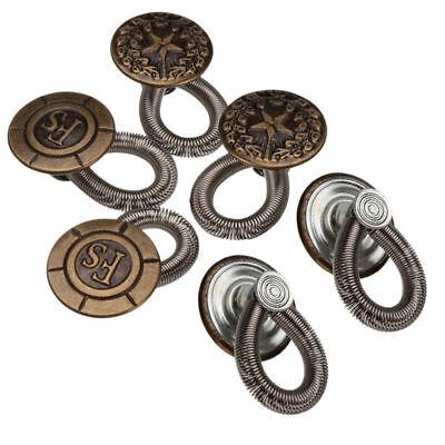 12 pcs Waist Extender Jeans Pants Stretch Buttons Instant Fix Metal Expanders