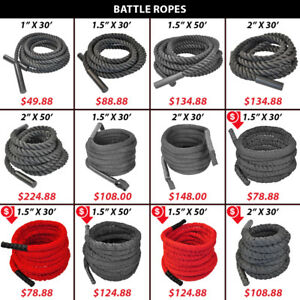 Crossfit Endurance Battle Battling Woven Nylon Covered Rope