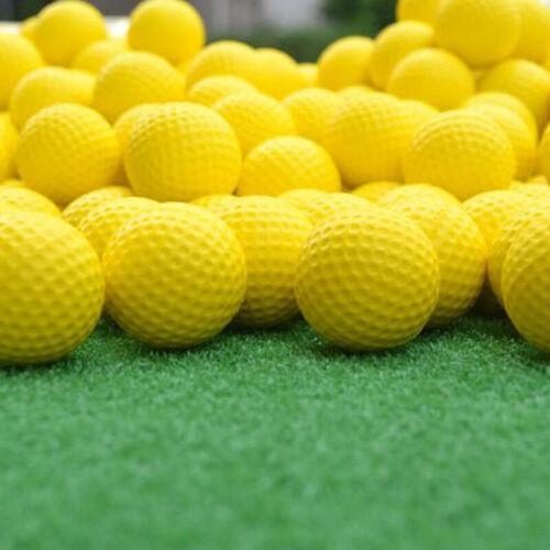 20Pcs Elastic Yellow PU Foam Golf Balls Sponge Indoor Outdoo