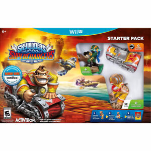 SKYLANDERS SUPERCHARGERS SET WII U IN BOX!