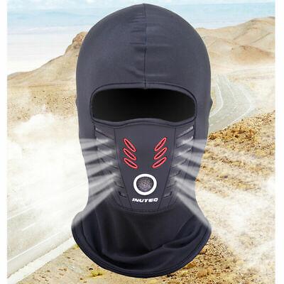 Black Ninja Mask (Winter/Summer Anti-Dust Full Face Mask Neck Cover Balaclava Windproof Ski)