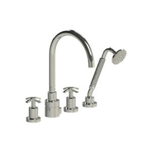 Rubinet 5HLACCHCH LaSalle Four Piece Roman Tub Filler With Hand