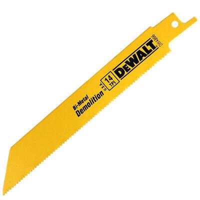 """DEWALT 6"""" 14 TPI Demolition Reciprocating Saw Blade (100 Per Pack)"""