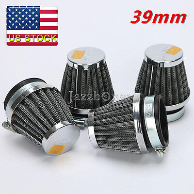4pcs 39mm Pod Air Filter For Honda CB500 CB550 CB750 Kawasaki Suzuki Yamaha