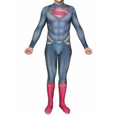 Man Of Steel Outfit (Superman Man of Steel Cosplay Clark Kent Costume Jumpsuit Zentai Bodysuit)