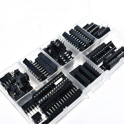 66pcslot Dip Ic Sockets Adapter Solder Type Socket Kit 68141618202428pin