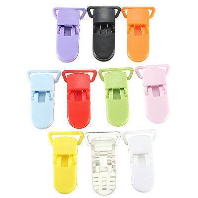 Used, 10pcs Colore Plastic Suspender Soother Pacifier Holders Dummy Clips For Baby for sale  Shipping to Canada