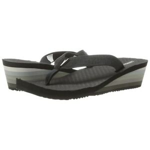 Still Available - Ladies Wedge Flip Flops - Black/Grey - Size 9 Kingston Kingston Area image 2