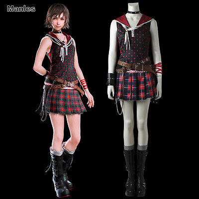 Final Fantasy Halloween Costumes (Final Fantasy XV Iris Amicitia Costume Cosplay Halloween Outfit Uniform Skirt)